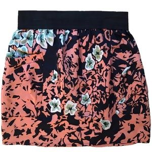 Ines Silk Floral Skirt from Aritzia